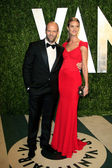 Jason Statham and Rosie Huntington-Whiteley — Stock Photo