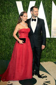 Natalie Portman and Benjamin Millepied — Stock Photo