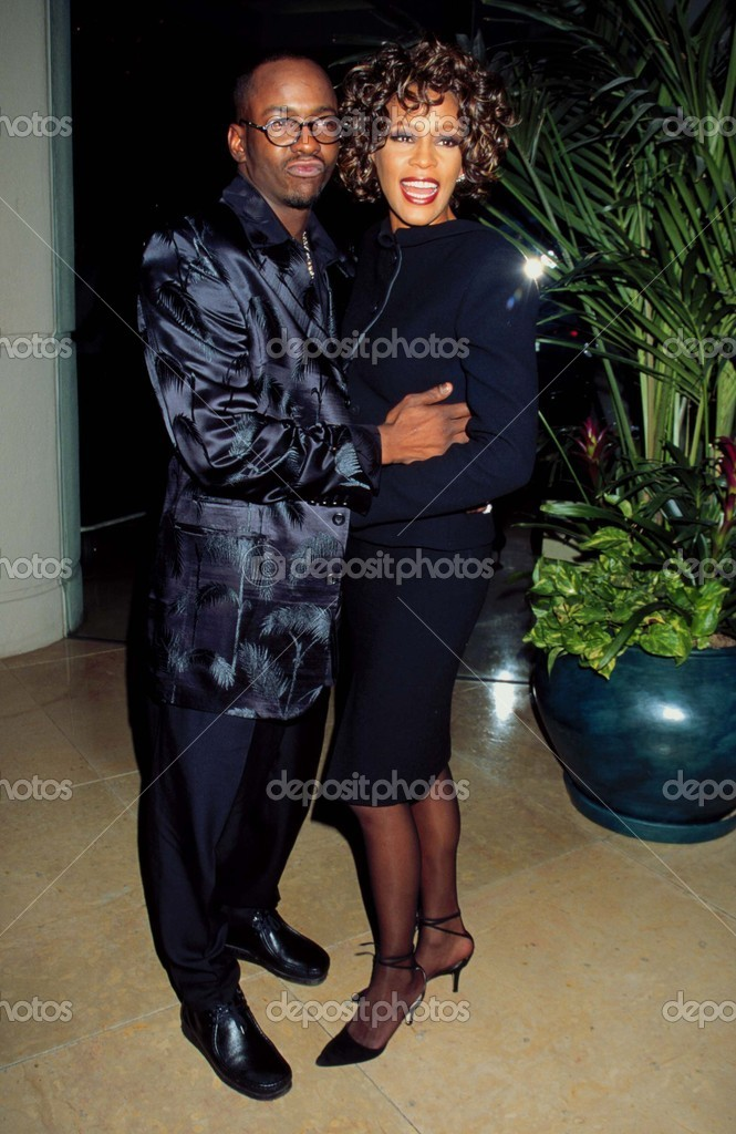 LOS ANGELES - SEP 28:  Bobby Brown, Whitney Houston arriving at the 3RD ANNUAL INTERNATIONAL ACHIEVMENT AWARDS at Beverly HIlton Hotel on September 28, 1997 in Beverly Hills, CA — Stock Photo #11730701