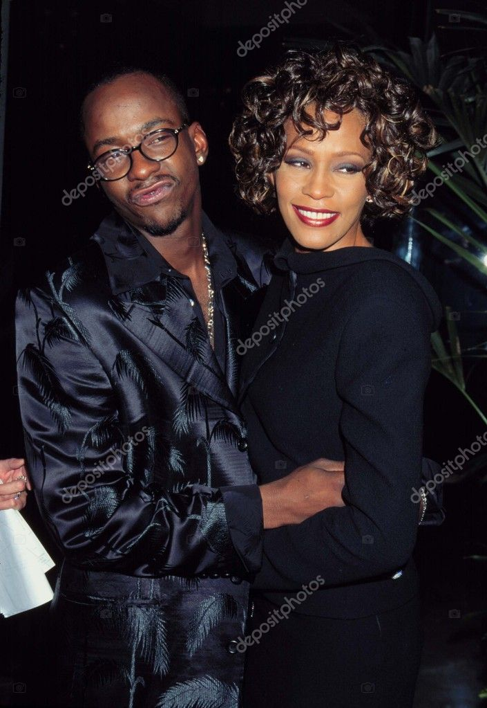 LOS ANGELES - SEP 28:  Bobby Brown, Whitney Houston arriving at the 3RD ANNUAL INTERNATIONAL ACHIEVMENT AWARDS at Beverly HIlton Hotel on September 28, 1997 in Beverly Hills, CA — Stock Photo #11730706