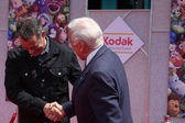 Tom Hanks & Buzz Aldrin — Stock Photo