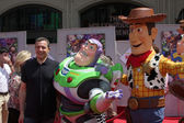 Bob Iger, Buzz Lightyear and Woody — Stock Photo