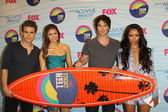Paul Wesley, Nina Dobrev, Ian Somerhalder, Kat Graham — Stock Photo