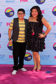 Rico Rodriguez, sister Raini — Stock Photo