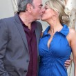 Stock Photo: Neil Diamond with wife Katie McNeil