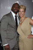 Terry Crews and wife — Stock Photo