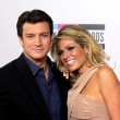 Nathan Fillion and Kate Luyben — Foto Stock
