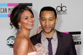 Christine Teigen and John Legend — Stock Photo