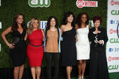 Leah Remini, Marissa Jaret Winokur, Sara Gilbert, Julie Chen, Holly Robinson Peete and Sharon Osbourne — Stock Photo