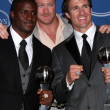 Reggie Bush, Jeremy Shockey and Drew Brees - Stock Photo