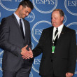 Detroit Tigers Pitcher Armando Gallaraga and MLB Umpire Jim Joyce - Stock Photo