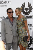 Mickey Rourke and Anastassija Makarenko — Stock Photo