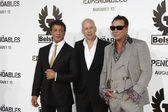 Sylvester Stallone, Bruce Willis and Mickey Rourke — Stock Photo