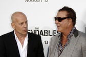 Bruce Willis and Mickey Rourke — Stock Photo