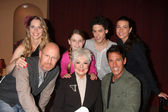 Lauralee Bell, Makaela Johnson, Zach Cumer, Shari Wiedmann, Aaron Lustig, Shirley Jones and Dan Cortese — Stock Photo