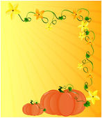 Pumpkin with flower — Stock Vector