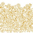 Fresh & young, classy & elegant ornamental flowering meadow — Imagen vectorial