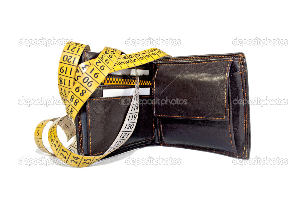 Wallet wrapped with measuring tape — Stock Photo #11677262