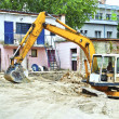 Yellow excavator — Stock Photo #11824287