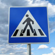 Pedestrian crossing sign — Stock Photo #11871906