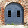 Old gray door — Stock Photo