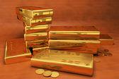999 gold bars 3D — Stock Photo