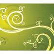 Stock Photo: Swirl on green backdrop