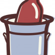 Illustration of a wine cooler - Stock Photo