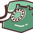 Stock Photo: Illustration of a retro phone