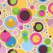 A layered pattern effect with circles of color — Stock Photo
