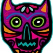 An illustration of a purple cat skull — Stock Photo