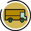 Stock Photo: Illustration of a delivery truck