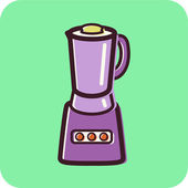 Illustration of a blender — Stok fotoğraf