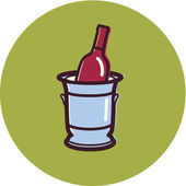 Illustration of a wine cooler — Stock Photo