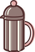 Illustration of a french coffee press — Stock Photo