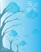 A tree and snowflake background — Stock Photo
