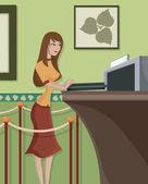 Uma mulher que trabalha — Fotografia Stock