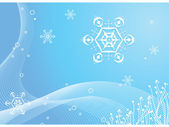 Snowflakes on a blue background — Stock Photo