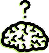 Illustration of a brain — Foto Stock