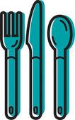 Illustration of cutlery — Stock Photo
