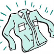 Stock Photo: Laundered and ironed business shirt