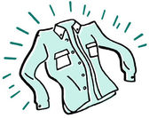 A laundered and ironed business shirt — Stock Photo
