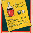 Vintage postcard with alcoholic beverages — Stock Photo #12092231