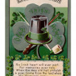An Irish poem printed on a vintage card — Stock Photo