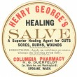 Stock Photo: Vintage label for healing salve