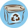 Foto Stock: Drawing of recycling box