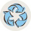 Illustration of recycle sign — Stok Fotoğraf #12092801