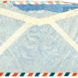 Back of vintage airmail envelope — Stock Photo