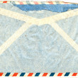 Back of vintage airmail envelope — Stock Photo #12093291