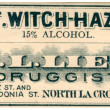 A vintage medical label - Stock Photo